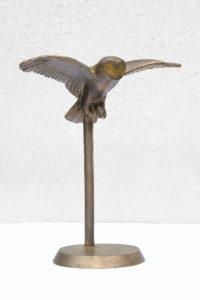kleine Eule, Bronze, 17 x 14 x 7 cm, 2010